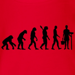 Evolution Putzfrau T-Shirts - Baby Bio-Kurzarm-Body