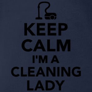 Keep calm I'm a cleaning lady T-Shirts - Baby Bio-Kurzarm-Body
