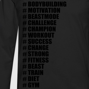 Hashtags For Gym, Bodybuilding, Fitness - Mannen Premium shirt met lange mouwen