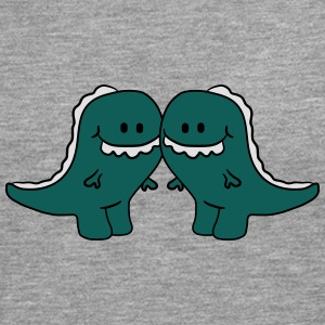 2 T-Rex friends pair T-Shirts - Men's Premium Longsleeve Shirt