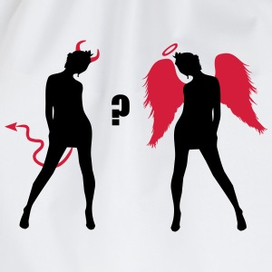 Angel Devil Sexy Girls Demon Ange  T-Shirts - Drawstring Bag