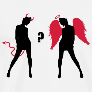 Angel Devil Sexy Girls Demon Ange  Topper - Premium T-skjorte for menn
