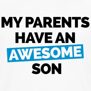 Parents Have An Awesome Son  Tee shirts - T-shirt manches longues Premium Homme