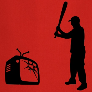 Destroy Your TV - Baseball bat vs. Television Tee shirts - Tablier de cuisine