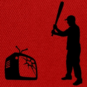 Destroy Your TV - Baseball bat vs. Television Tee shirts - Casquette snapback