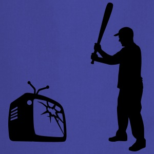 Destroy Your TV - Bate de béisbol vs. televisión  Camisetas - Delantal de cocina