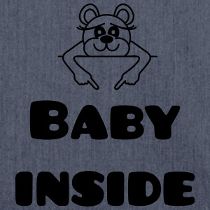 baby inside T-Shirts - Shoulder Bag made from recycled material