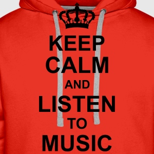 keep_calm_and_listen_to_music_g1 Tops - Mannen Premium hoodie