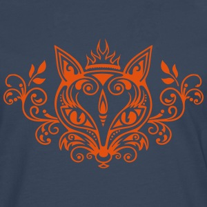 Räv What does the fox say? skog vår sommar present T-shirts - Långärmad premium-T-shirt herr