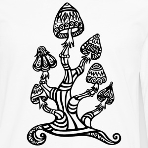 Magic mushrooms, wonderland, psychedelic, lsd Tee shirts - T-shirt manches longues Premium Homme
