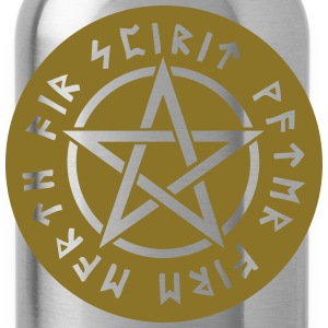Pentagram star element rune paganism witchcraft Bags & Backpacks - Water Bottle