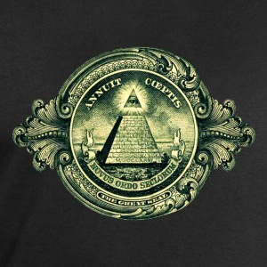 All seeing eye, pyramid, dollar, freemason, god Väskor - Sweatshirt herr från Stanley & Stella
