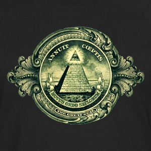All seeing eye, pyramid, dollar, freemason, god Bolsas - Camiseta de manga larga premium hombre