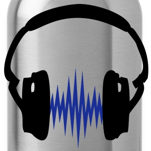 Headphone,Kopfhörer, Musik,Welle,Audio,Frequenz,2c T-Shirts - Water Bottle