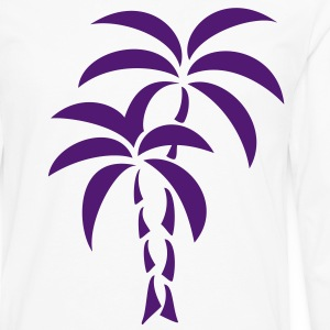 Palm Tree / Tattoo Style / Vector / Sweatshirts - Herre premium T-shirt med lange ærmer