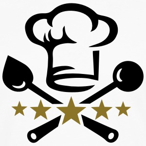 Chef's hat, five stars, cook, kitchen, restaurant Gensere - Premium langermet T-skjorte for menn