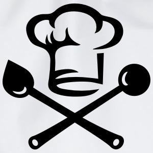 Chef hat cutlery, cooking, Cook, Restaurant, Hotel Sweatshirts - Sportstaske