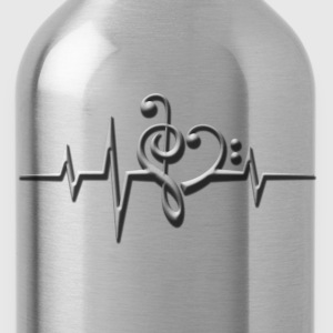 Music, pulse, sheet, classical, dance, rock, note T-Shirts - Water Bottle