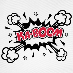 KABOOM, comic speech bubble, cartoon, word balloon Hoodies & Sweatshirts - Baseball Cap