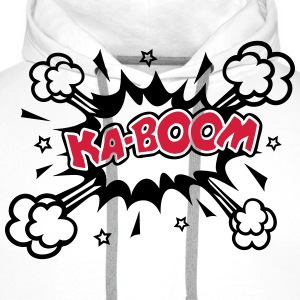 KABOOM, comic speech bubble, cartoon, word balloon Hoodies & Sweatshirts - Men's Premium Hoodie