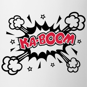 KABOOM, comic speech bubble, cartoon, word balloon Hoodies & Sweatshirts - Mug