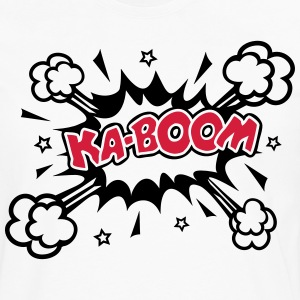 KABOOM, comic speech bubble, cartoon, word balloon Hoodies & Sweatshirts - Men's Premium Longsleeve Shirt