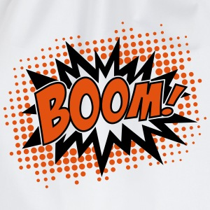 BOOM, comic, speech bubble, cartoon, balloon, dots Hoodies & Sweatshirts - Drawstring Bag