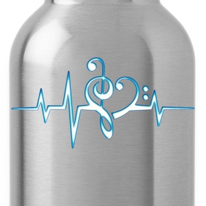 Music, pulse, notes, Trance, Techno, Electro, Goa T-Shirts - Water Bottle