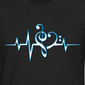 Music, pulse, notes, Trance, Techno, Electro, Goa Camisetas - Camiseta de manga larga premium hombre
