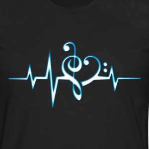 Music, pulse, notes, Trance, Techno, Electro, Goa T-shirts - Herre premium T-shirt med lange ærmer