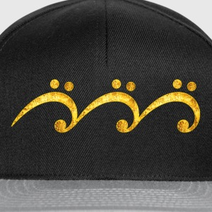 Sheet music bass clef wave, surfing, notes, summer T-Shirts - Snapback Cap