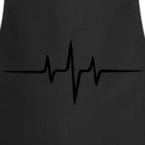 Music Heart rate Dub Techno House Dance Electro Sweatshirts - Forklæde