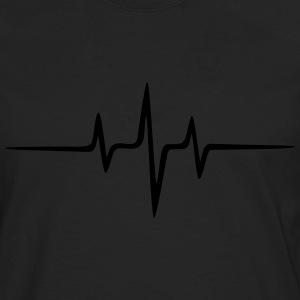 Music Heart rate Dub Techno House Dance Electro Gensere - Premium langermet T-skjorte for menn
