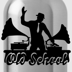 DJ Old School, Gramophone, swing, music, dance Tröjor - Vattenflaska