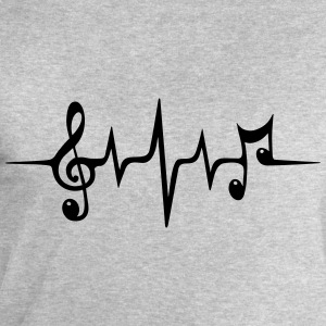 Heart rate pulse music note clef Electro Classic Tröjor - Sweatshirt herr från Stanley & Stella