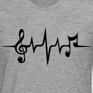 Heart rate pulse music note clef Electro Classic Tröjor - Långärmad premium-T-shirt herr