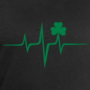 Music heart rate shamrock Patricks Day Irish Folk Bluzy - Bluza męska Stanley & Stella