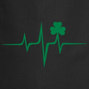 Music heart rate shamrock Patricks Day Irish Folk Tröjor - Förkläde