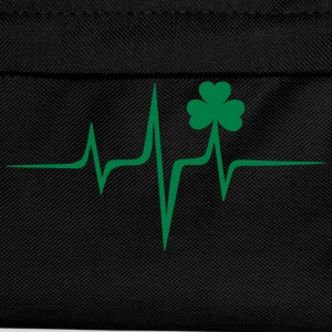 Music heart rate shamrock Patricks Day Irish Folk Sweaters - Rugzak voor kinderen
