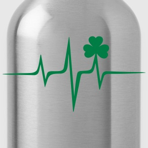 Music heart rate shamrock Patricks Day Irish Folk Felpe - Borraccia