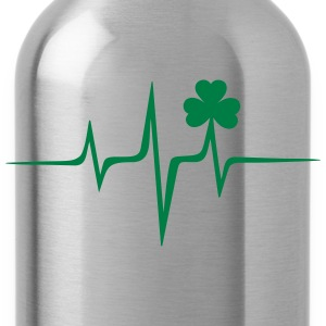 Music heart rate shamrock Patricks Day Irish Folk Tröjor - Vattenflaska