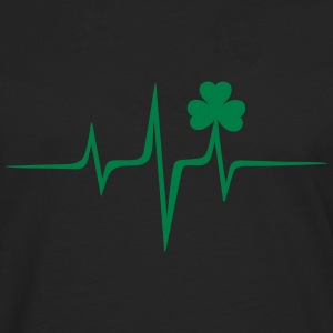 Musik Herz music Frequenz Patricks Day Irish Folk - Männer Premium Langarmshirt