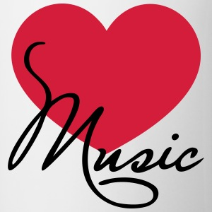 Heart I love music like classical choir band clef Felpe - Tazza
