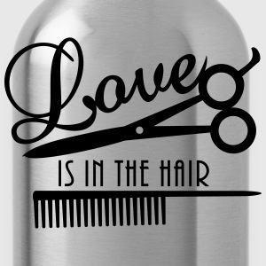love is in the hair (d, 1c) T-Shirts - Trinkflasche