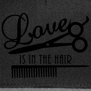 love is in the hair (d, 1c) T-Shirts - Snapback Cap