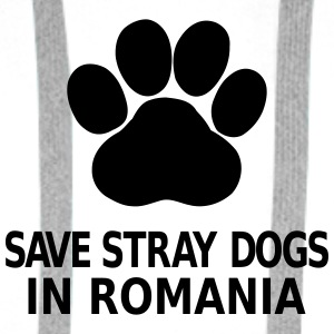 Save Stray Dogs In Romania Buttons - Men's Premium Hoodie
