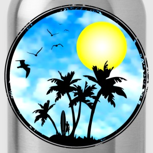 surfing - pacific island Shirts - Water Bottle