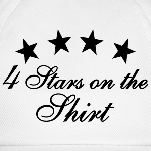 4 Stars On The Shirt Tops - Baseballkappe