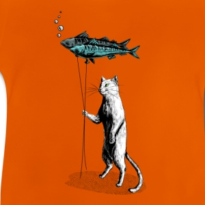 Cat Balloon Tee shirts - T-shirt Bébé