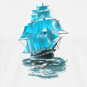 sailing ship Tank Tops - Men's Premium T-Shirt